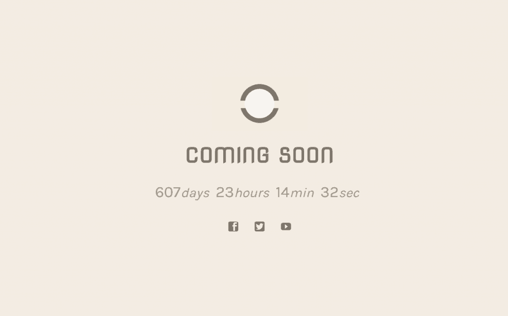 Coming Soon WordPress - Simple Beige Design
