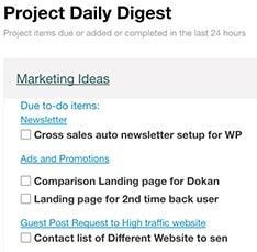 Receive daily reports for all your projects