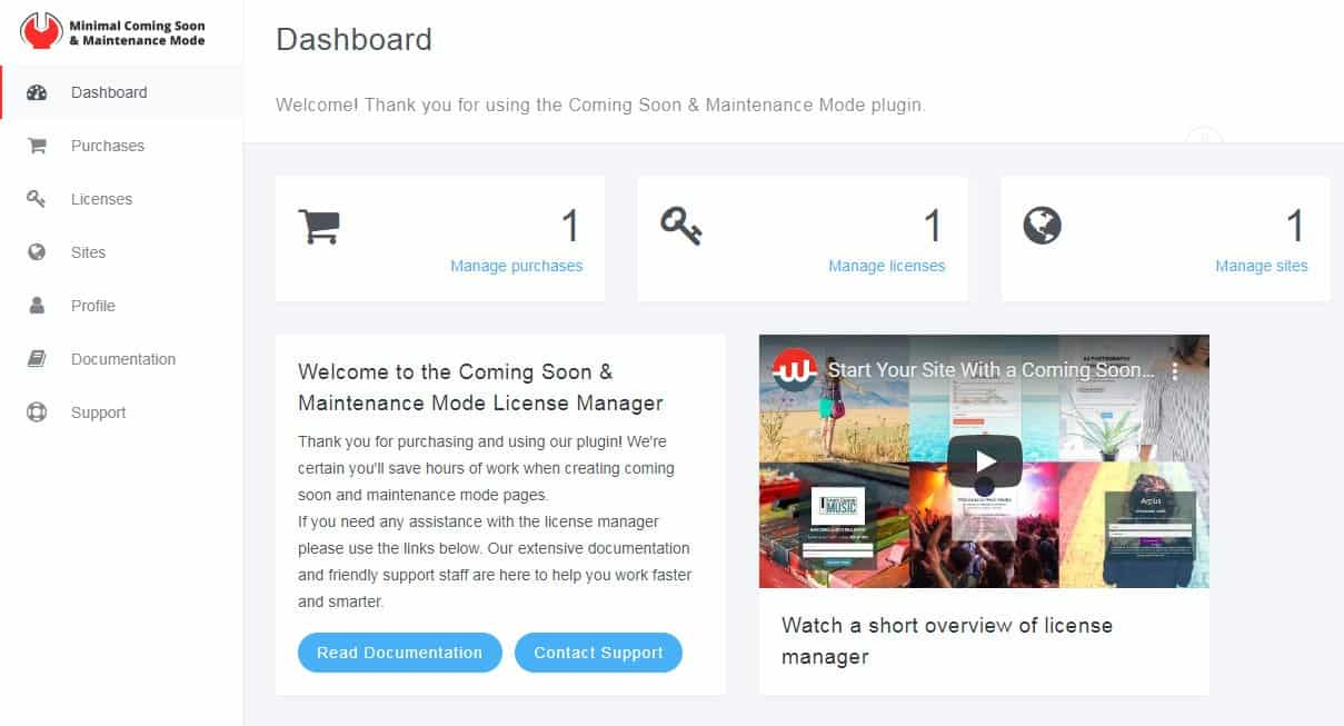 License Manager Dashboard