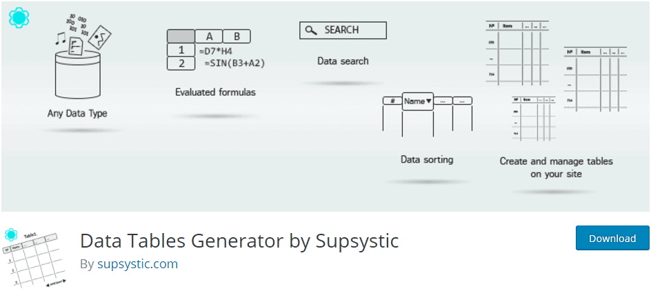Data Tables Generator by Supsystic