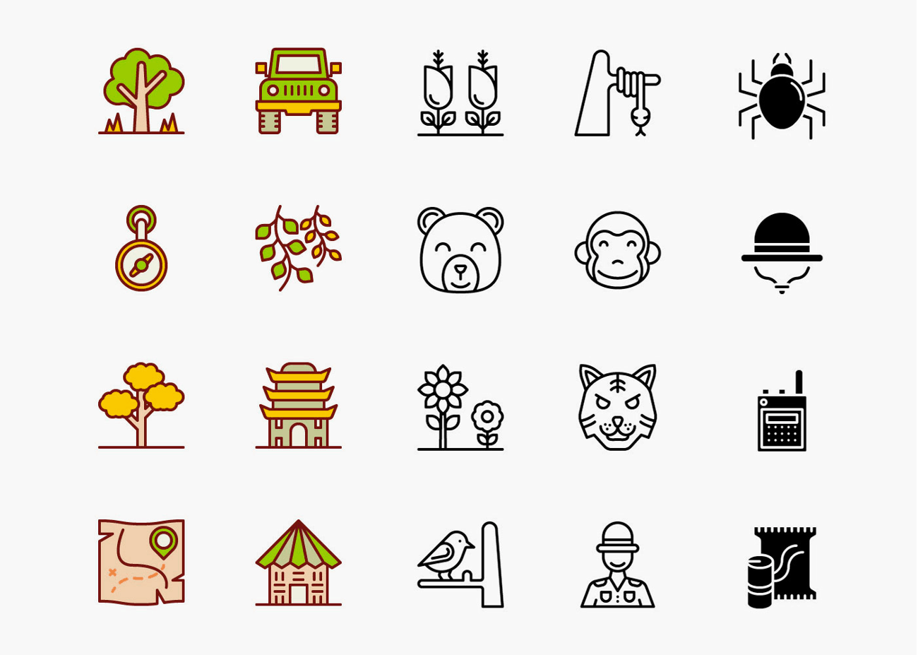 Forest Icons Pack