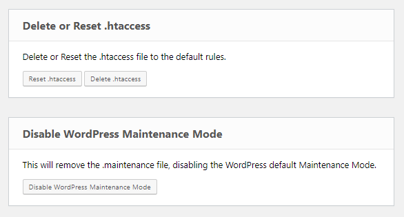 Emergency Recovery Script Delete or Reset .htaccess & Disable WordPress Maintenance Mode Tool