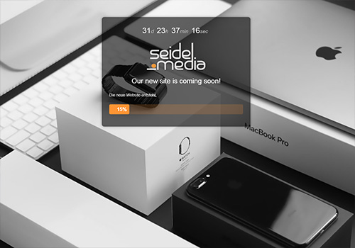 seidel-media.com uses the Minimal Coming Soon WordPress plugin