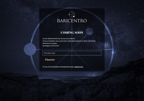www.baricentrowatches.com uses the Minimal Coming Soon WordPress plugin