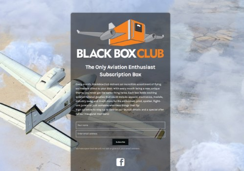 blackbox.club uses the Minimal Coming Soon WordPress plugin
