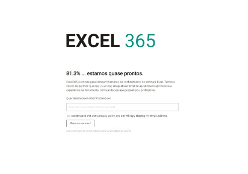 www.excel365.com.br365 uses the Minimal Coming Soon WordPress plugin